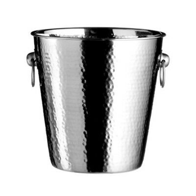 Premier Housewares Stainless Steel Hammered Effect Champagne Bucket, 20 x 22 x