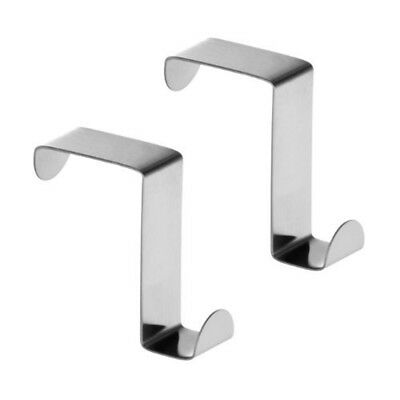 Premier Housewares Over Cupboard And Drawer Hooks, Stainless Steel - Set Of 2 -
