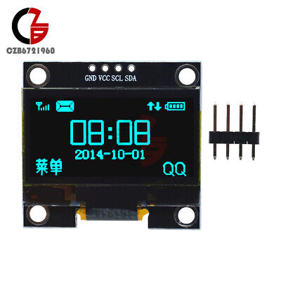 "Blue 1.3"" OLED LCD 4Pin Display Module IIC I2C 128x64 3~5V Interface for Arduino"