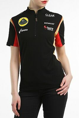 POLO SHIRT damen Reiaverschluss Formula One 1 Lotus F1 Sponsor Burn S DE