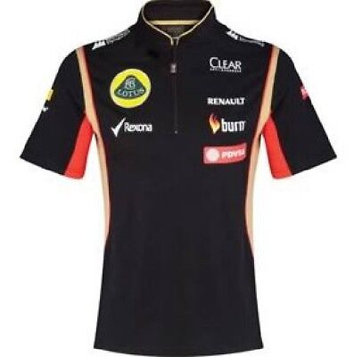 POLO SHIRT Tech Damen Zip Formel Formula 1 Lotus F1 Sponsor 2014/5 XL DE