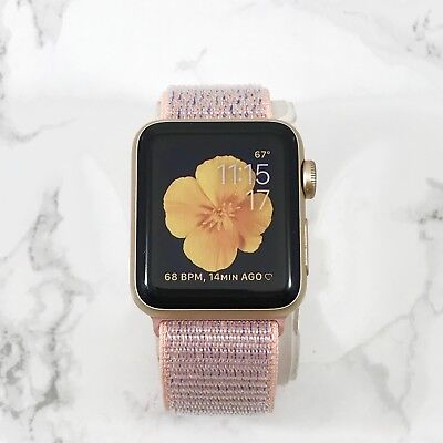 Apple Watch Gen 1 42mm Gold Aluminum Case Series 7000 Midnight Blue Loop