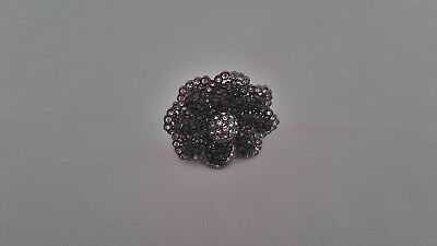 Vintage Givenchy Cocktail Ring  with Clear & Silver Pave  Crystal