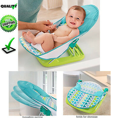 Baby Infant Bath Seat Summer Bather Support 3 Position Recline Newborn Folding