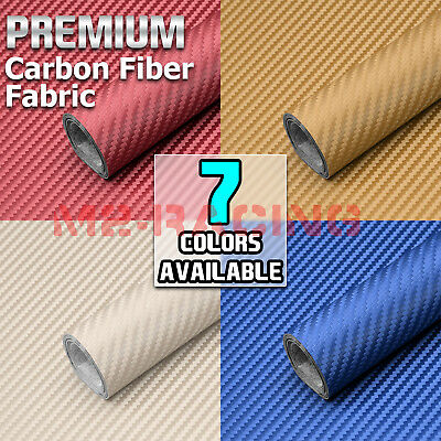 "Carbon Fiber Fabric Cloth Marine Vinyl 54"" Wide Plain Weave Upholstery Auto"