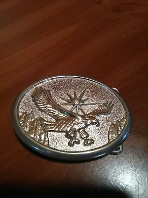 Vintage 3D Flying Eagle brass/gold tone belt buckle-NEW