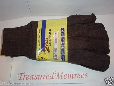 10 Pairs of B & G Everyday Work Gloves ~ One Size Fits Most ~ New With Tags