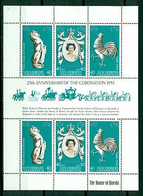 New Hebrides (BR) Scott #258 MNH S/S Queen Elizabeth II Reign 25th ANN $$