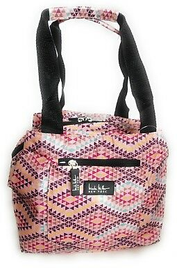 Nicole Miller Insulated 11 Lunch Tote Reusable Bag Fiesta Pink