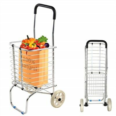 LIGHTWEIGHT SHOPPING CART Multi-purpose folding Trolley for Laundry Grocery