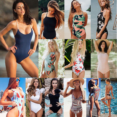 Women One-Piece Swimsuit Beachwear Swimwear Push-up Monokini Bikini Bathing Lot
