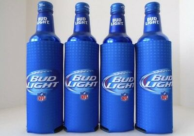 New! 2x Authentic  Bud Light Bottle Beer Can Koozie Coozie Coolie