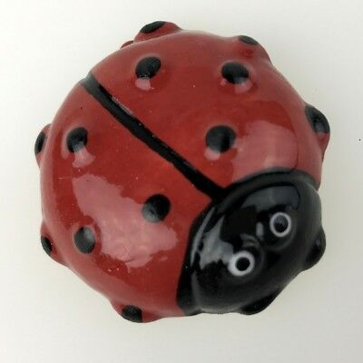 CERAMIC LADYBIRD / LADYBUG - 45mm in diameter ~ Ceramic Mosaic Tiles