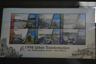 NEW ZEALAND: 1999 Urban Transformation Miniature sheet MUH
