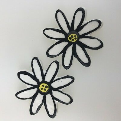 CERAMIC DAISY - WHITE - x2 ~ Ceramic Mosaic Tiles