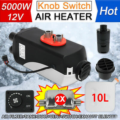 12V 3KW Air Car Diesel Parking Heater Tank Vent, Duct, Thermostat Caravan 3000W