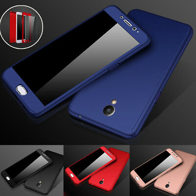 New Hybrid 360° Shockproof Hard Case + Tempered Glass for Meizu M5 M6 Note Pro7