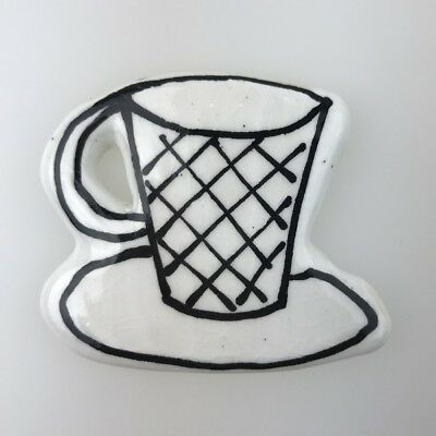 CERAMIC CUP / CERAMIC MUG (tall) - WHITE ~ Ceramic Mosaic Tiles