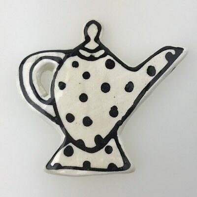 Ceramic TEAPOT with Footrim - White ~ Ceramic Mosaic Tiles