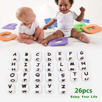 Dice Food Grade Silicone Beads Teething Necklace Soft Alphabet Beads Cube