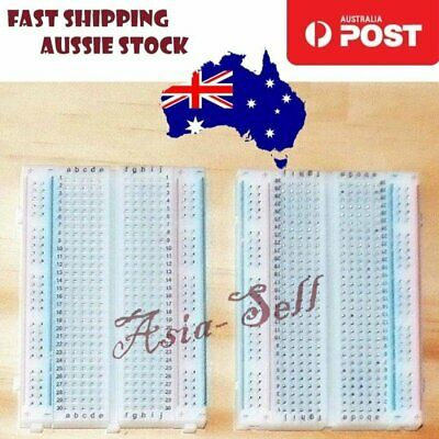 1pcs Quality Mini Breadboard Bread Board 8.5x5.5cm 400 Holes Tie-Points Cable
