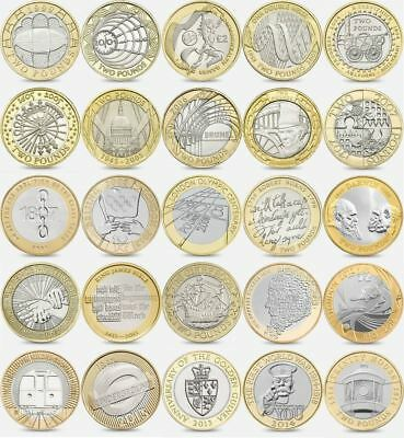 £2 Two Pound Coins British Coin Hunt Rare Royal Mint Circulated Commemorative £2