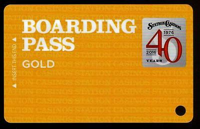 STATION CASINOS casino *Boarding Pass Gold *las vegas hotel slot/players card*