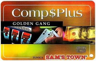 SAM'S TOWN hotel casino *GOLDEN GANG COM$PLUS *Vintage BLANK~ slot/players card