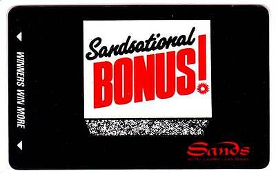 SANDS hotel casino *SANDSATIONAL BONUS *Vintage BLANK~LV slot/players card