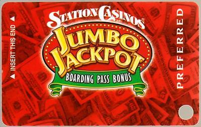 STATION casino's*Jumbo Jackpot PREFERRED*un used BLANK~hotel slot/players card