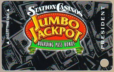 STATION casino's*Jumbo Jackpot PRESIDENT*un used BLANK~hotel slot/players card