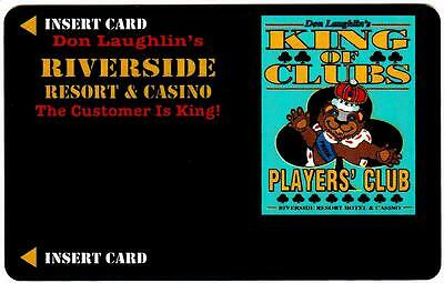 RIVERSIDE CASINO hotel*KING OF CLUBS style#2*VINTAGE BLANK~ slot/players card