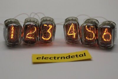 Lot 6 PCS Nixie Tubes IN-12A, IN-12 A, IN12 A for Nixie Clock. Tested. NOS
