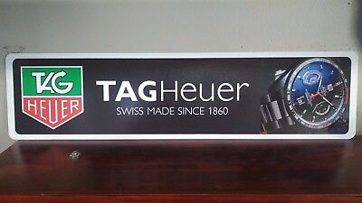 "TAGHeuer Watch full color aluminum sign  6"" x 24"""