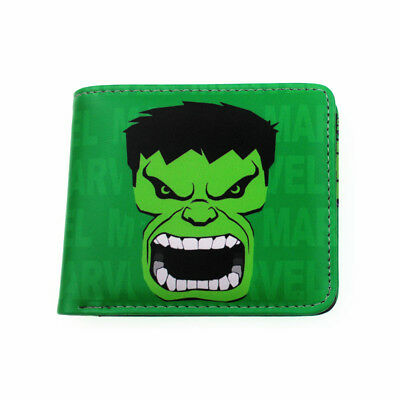 Superhero Short Wallet Marvel DC Comics Coin Purse Deadpool Hulk Flash Batman
