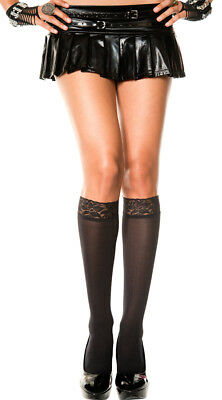 One Size Fits Most Womens Lace Top Knee Highs, Knee High Hosiery