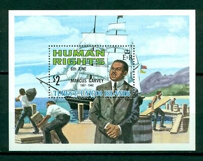 Turks & Caicos Islands Scott #462 MNH S/S Human Rights Leaders $$