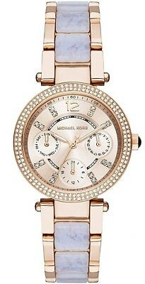 Michael Kors Women's MK6327 Mini Parker Blush Rose Gold Tone Watch