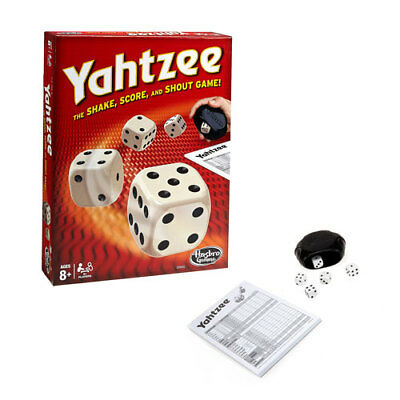 Yahtzee Game Classic with Dice, Shaker & 80 Score Cards Hasbro Gaming
