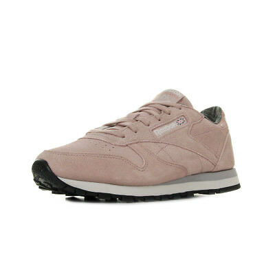 ba4ff966 CHAUSSURES BASKETS REEBOK femme Classic Leather Pastel taille Rose ...