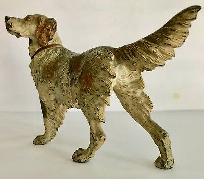 Large Antique Cold Painted Vienna Bronze English Hunting Dog