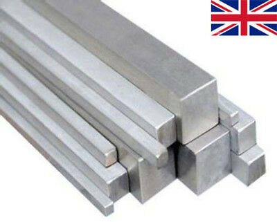 "304 STAINLESS STEEL SQUARE BAR ROD 3*3 4*4 5*5 7*7 10*10mm 50cm 20"" UK"
