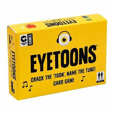 Eyetoons Play That Tune Family 2+ Player Card Game Emotions Fun Official