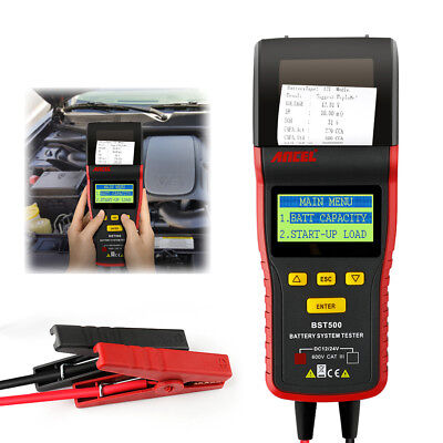 12V 24V Car Battery Tester W/ Printer Car Truck Battery Analyzer Diagnostic Tool