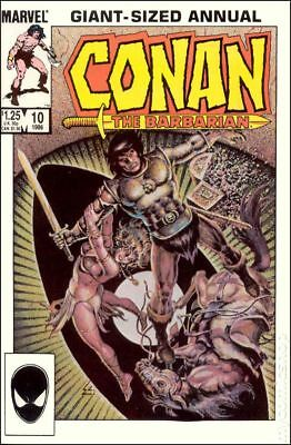 Conan the Barbarian (Marvel) Annual #10 1985 VG Stock Image Low Grade