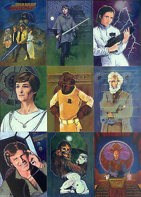 Star Wars Finest Chrome - Complete Card Set (1-90) 1996 Topps @ Near Mint