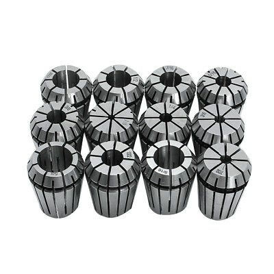12pcs ER16 Spring Collet Set 1/32 to 3/8 Inch Chuck Collet For CNC Milling Lath