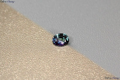 0.160 Ct Unique 100% Nr' Dancing Colour Change Alexandrite Gemstone Aaa Oval !!!