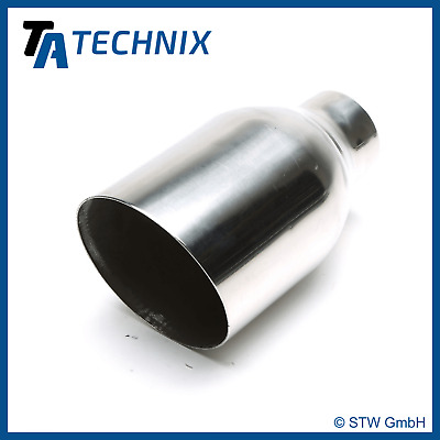 TA TECHNIX End pipe Stainless Steel Universal 4 11/32x4 17/32in Oval / SHARP