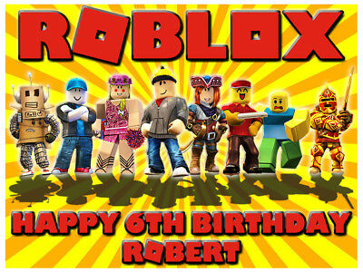 Roblox Personalised Edible Birthday Party Cake Decoration